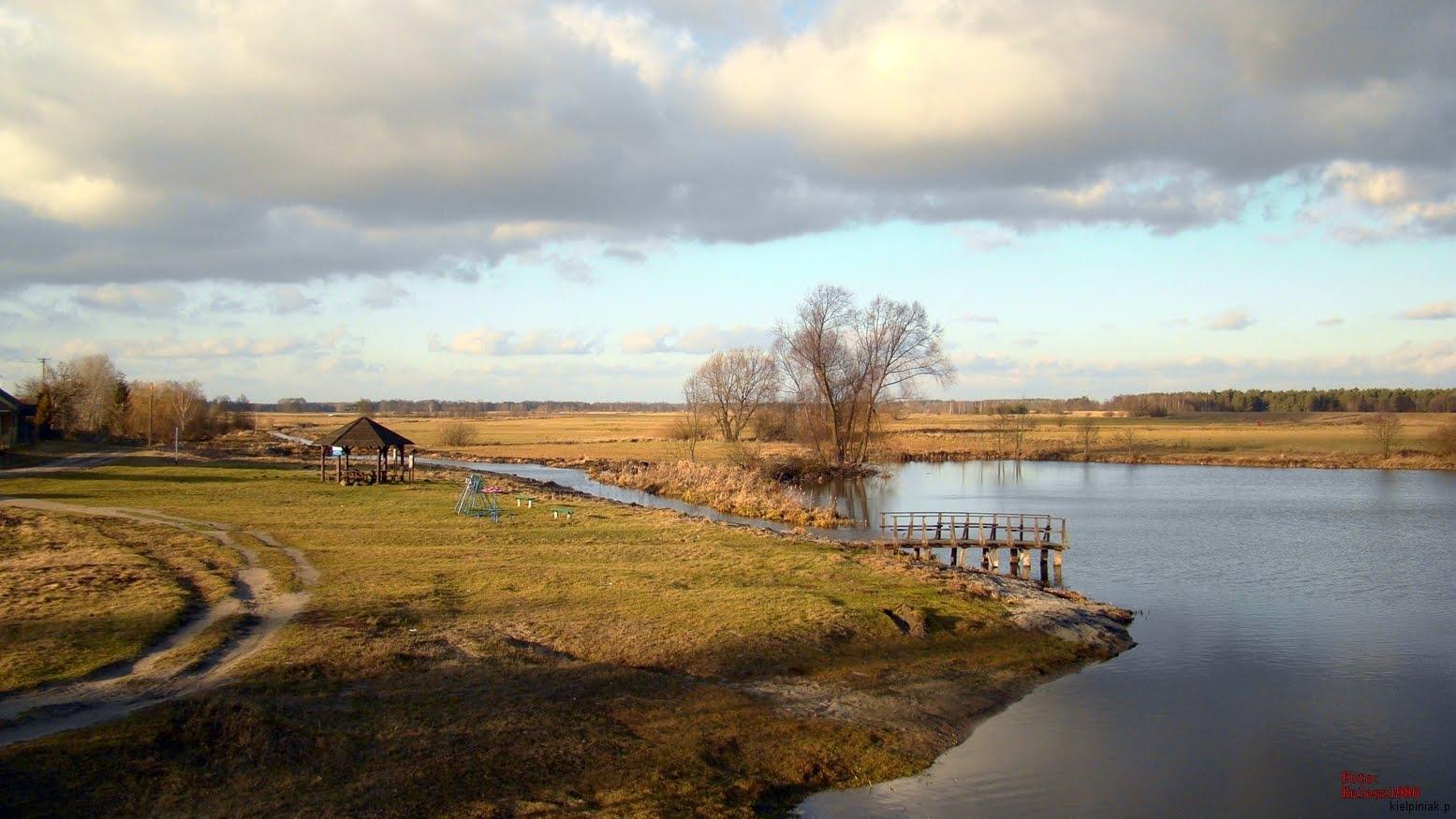 wiosna, jezioro w kiełpińcu