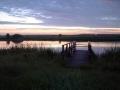 wschód słońca nad jeziorem w kiełpińcu