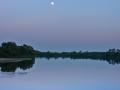 zachód słońca kiełpiniec, rzeka Bug