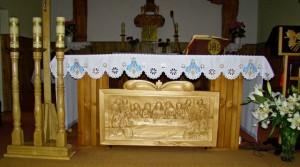 KIEŁPINIEC kaplica płaskorzeźba ostatnia wieczerza