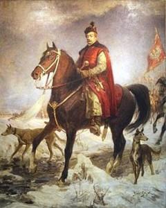Hetman Jan Zamoyski na koniu