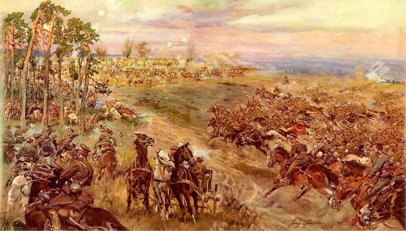 Bitwa pod Komarowem – prawa część tryptyku Jerzego Kossaka