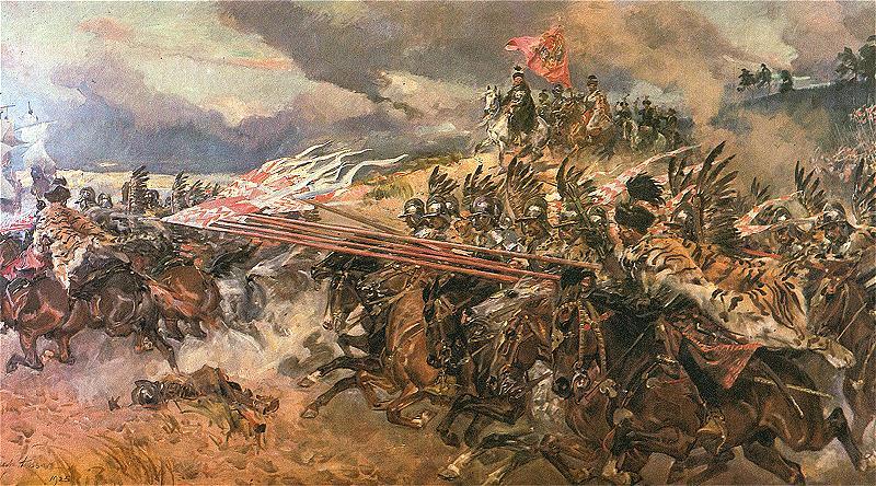Bitwa pod Kircholmem, obraz autorstwa Wojciecha Kossaka (1928 rok).