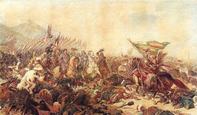 """""""Sobieski pod Wiedniem"""" (lub także """"Sztandar proroka""""), obraz namalowany przez Juliusza Kossaka w 1882 roku."""