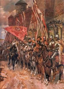 Hetman Żółkiewski i jego husaria na obrazie Wojciecha Kossaka.