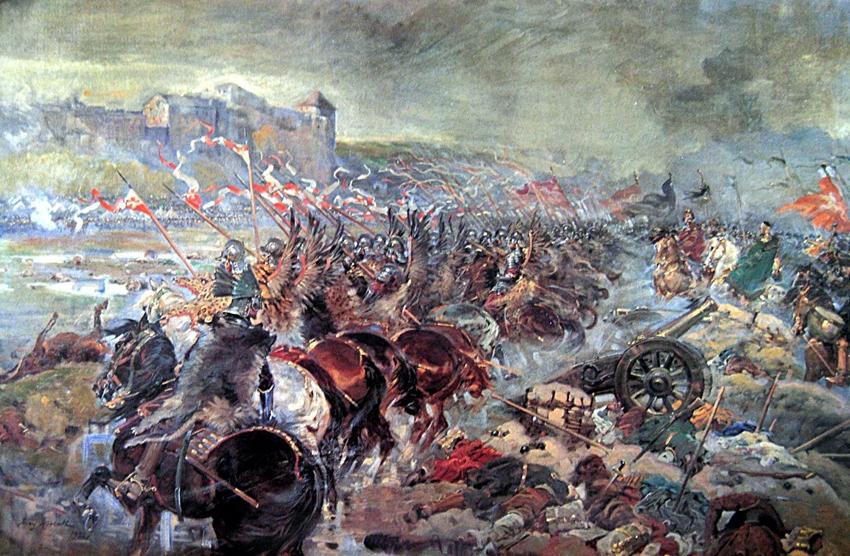 Bitwa pod Chocimiem 1673, obraz Jerzego Kossaka.