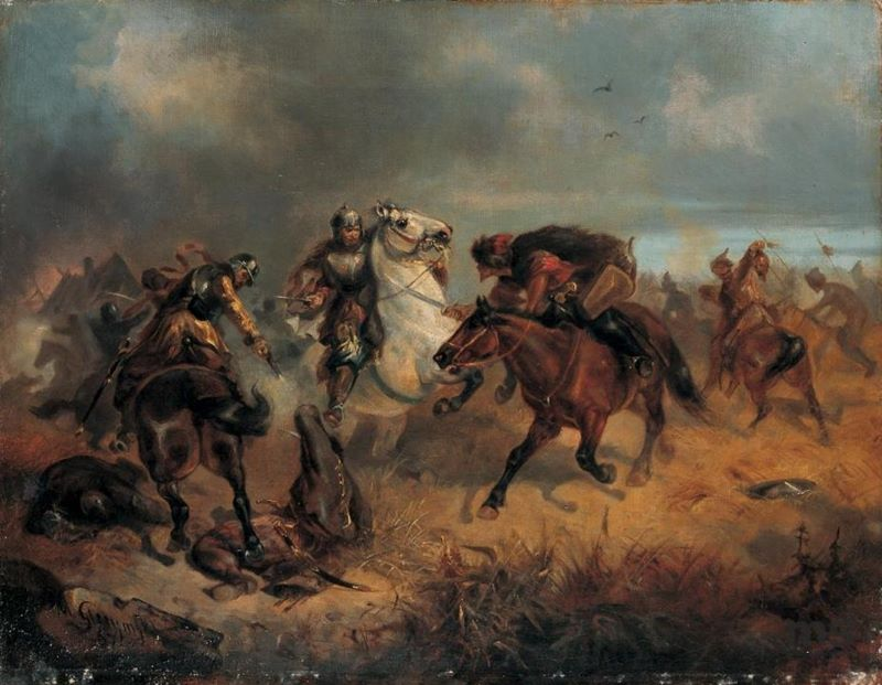 Potyczka z Tatarami, obraz Maksymiliana Gierymskiego z 1867 roku.