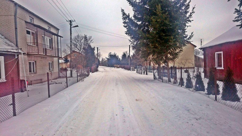 kiełpiniak wieś zimą
