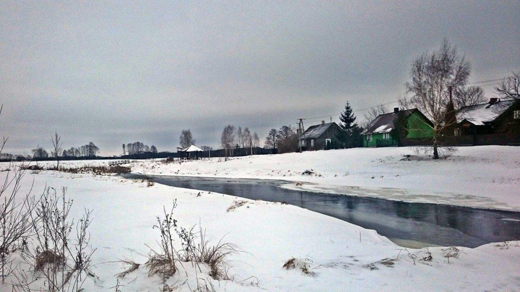 Starorzecze Bugu wieś Kiełpiniec