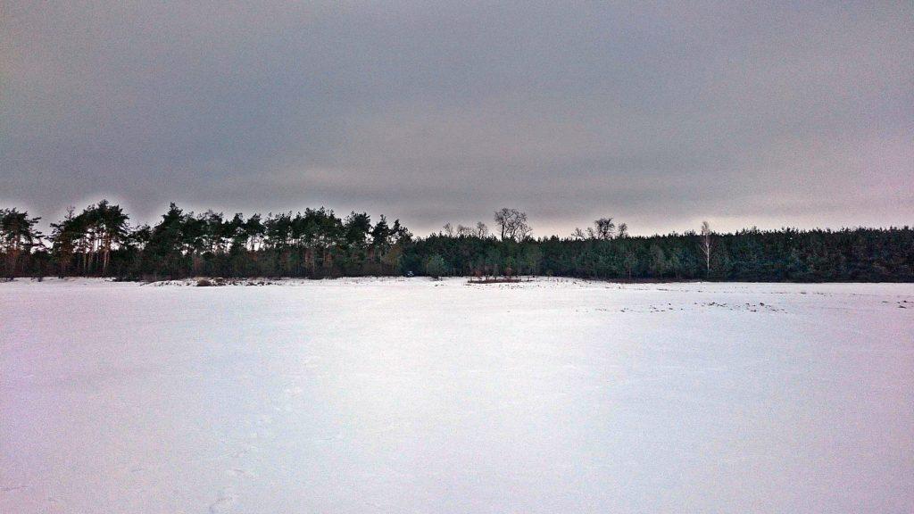piękny zimowy widok