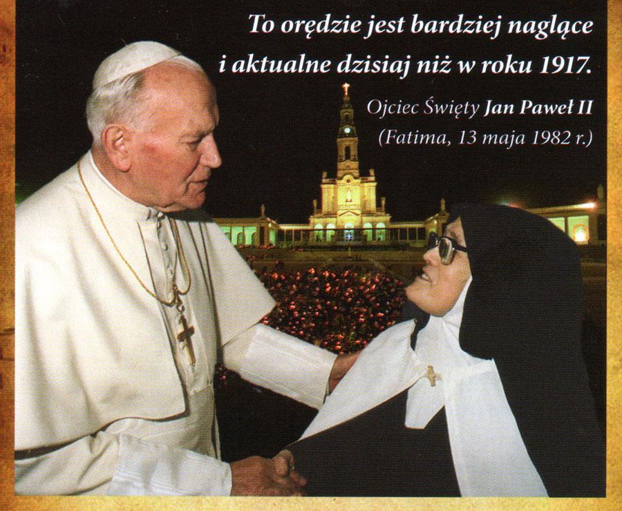 spotkanie siostry Łucji i Papieża Polaka