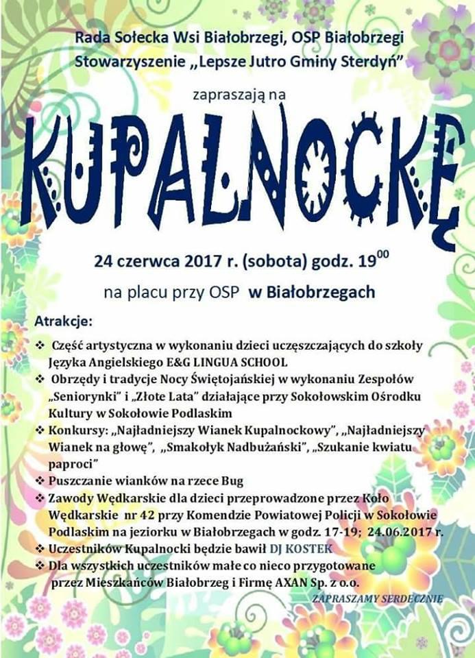 kupanocka białobrzegi 2017