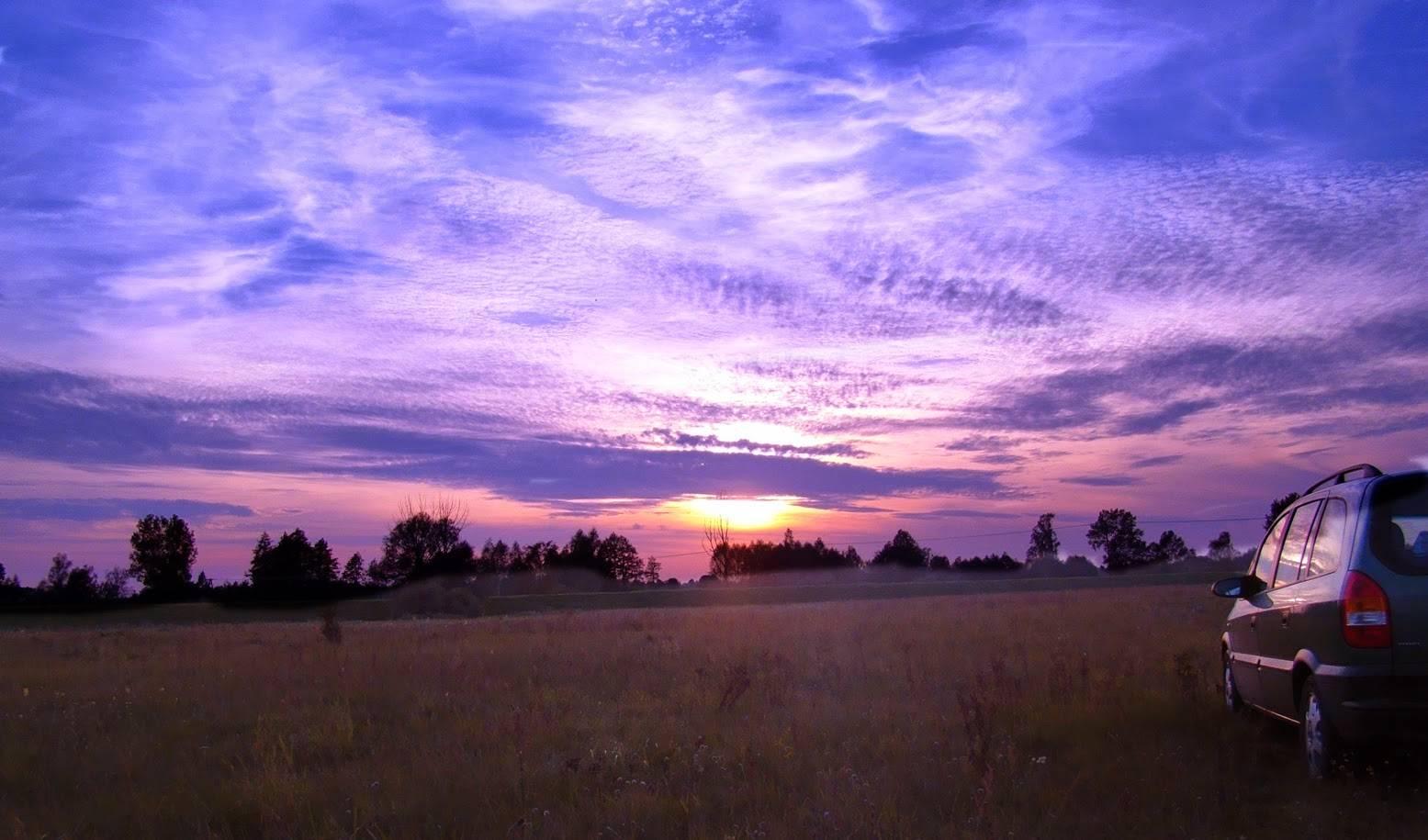 zachód słońca nad bugiem