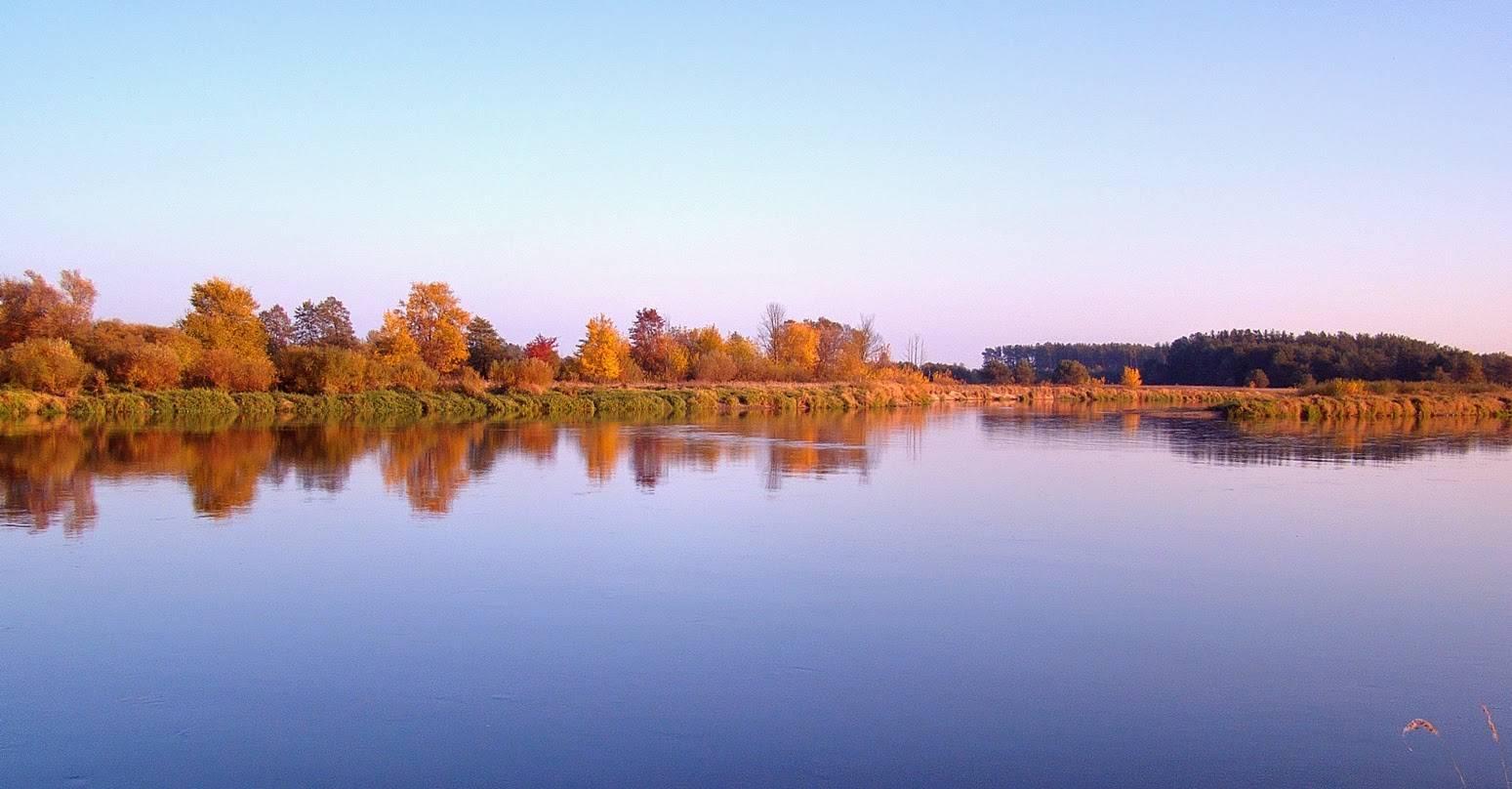 rzeka Bug przy kiełpińcu jesienią 2015 2