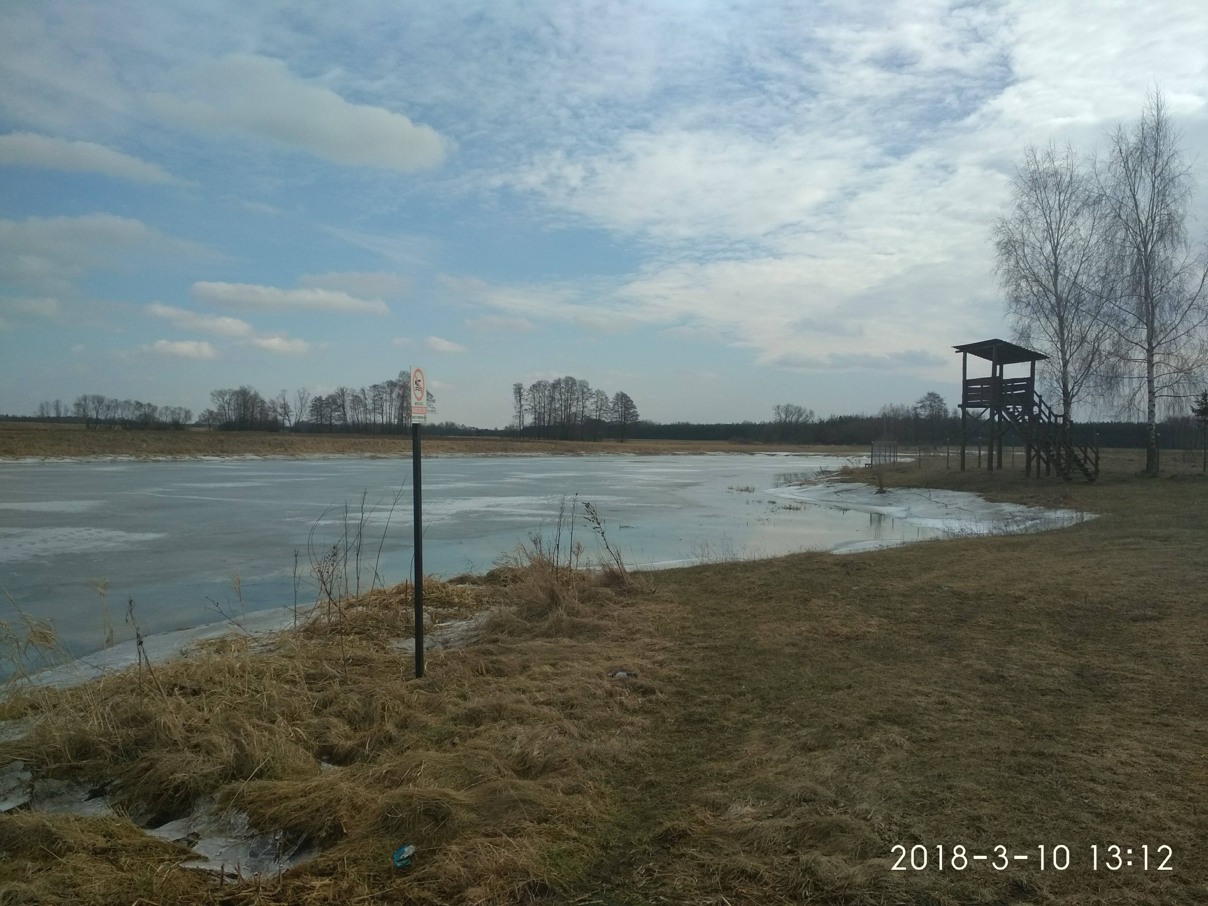 nad jeziorem w kiełpińcu marzec 2018