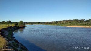Rzeka Bug we wsi kiełpiniec