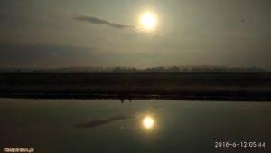 NPK, jezioro w Kiełpińcu, wschód słońca