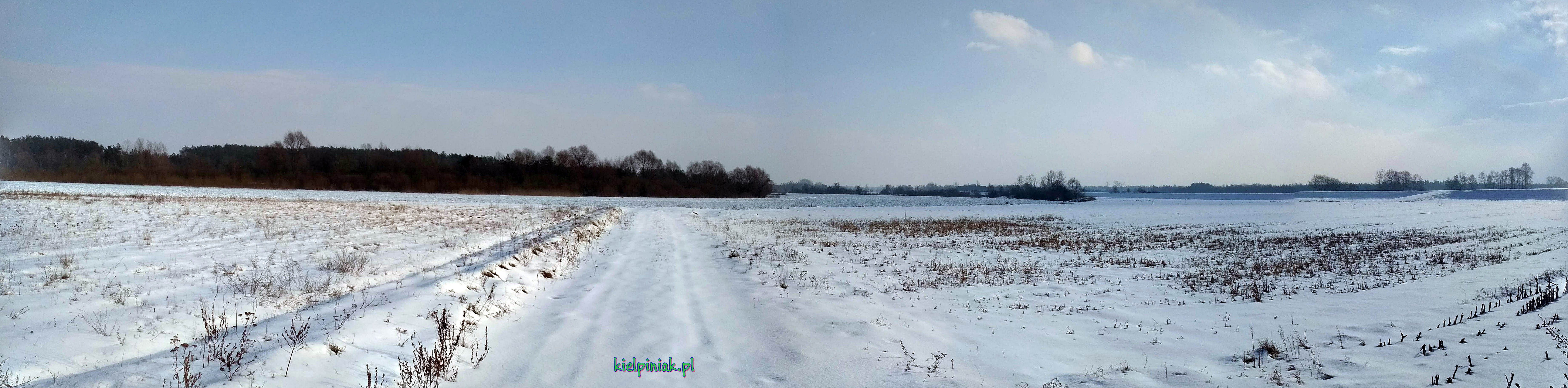 droga nad Bug, zima 2019, tapety