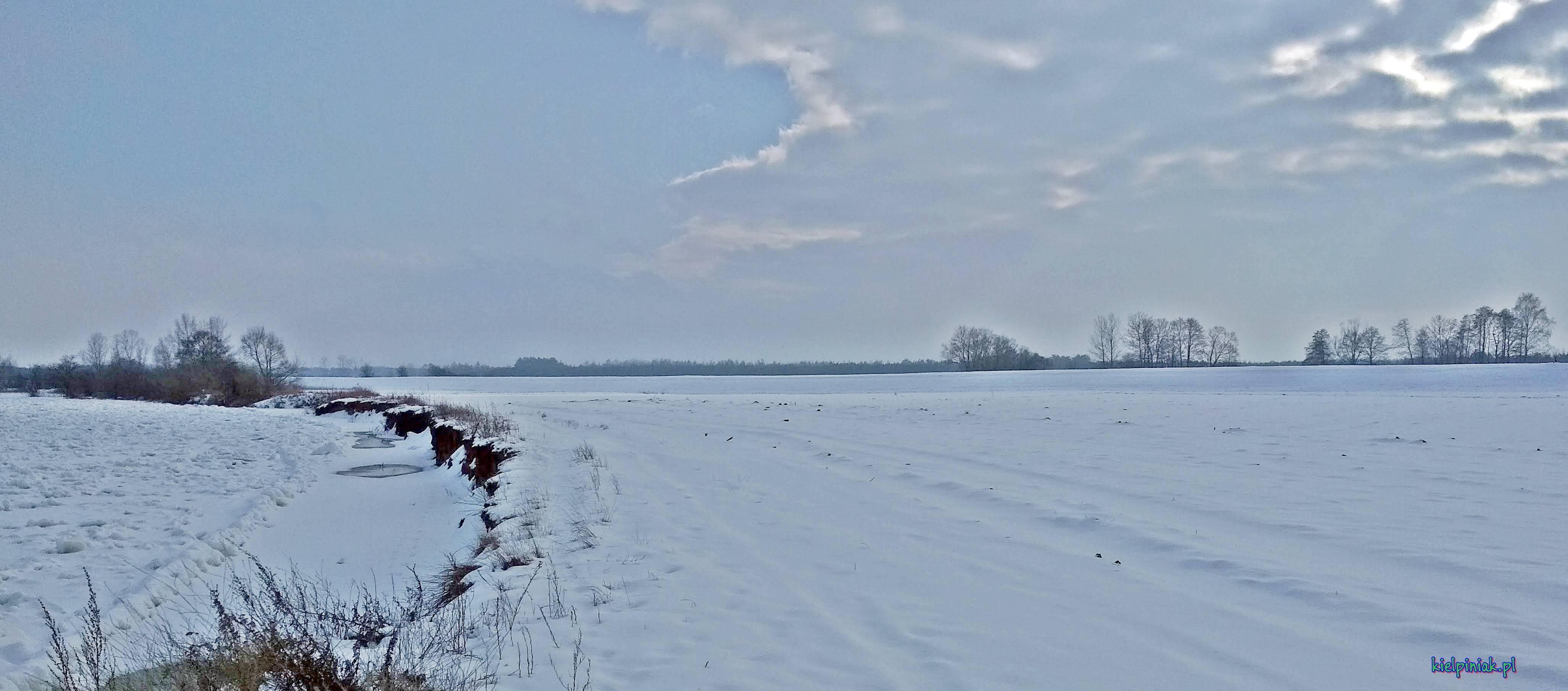poziom wody na rzece Bug styczeń 2019 wieś kiełpiniec