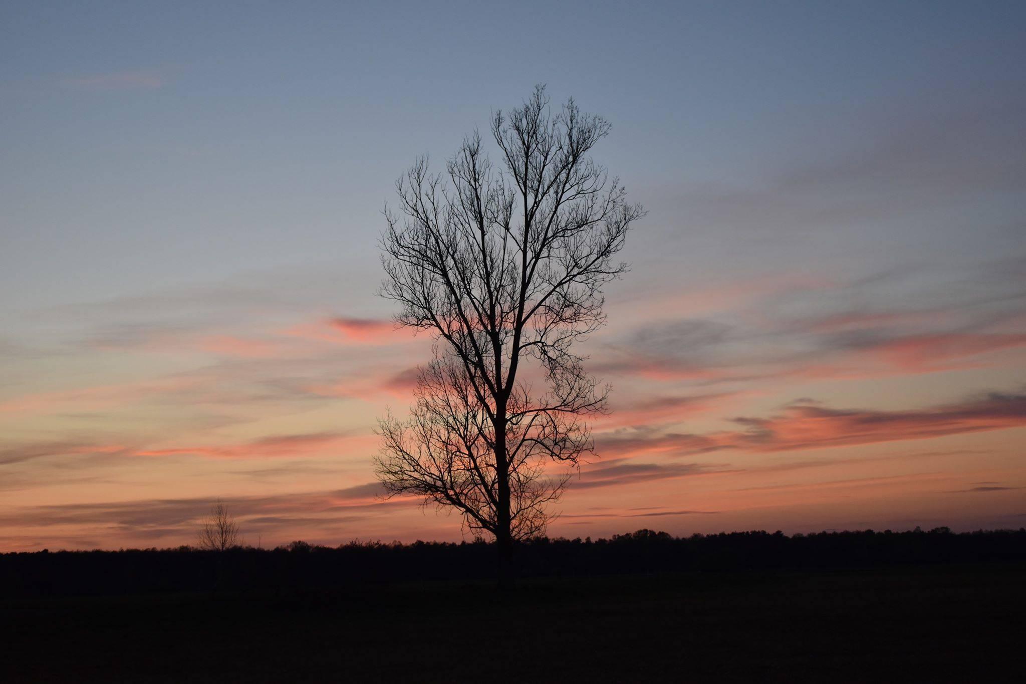 Kolorowy zachód słońca w kiełpińcu