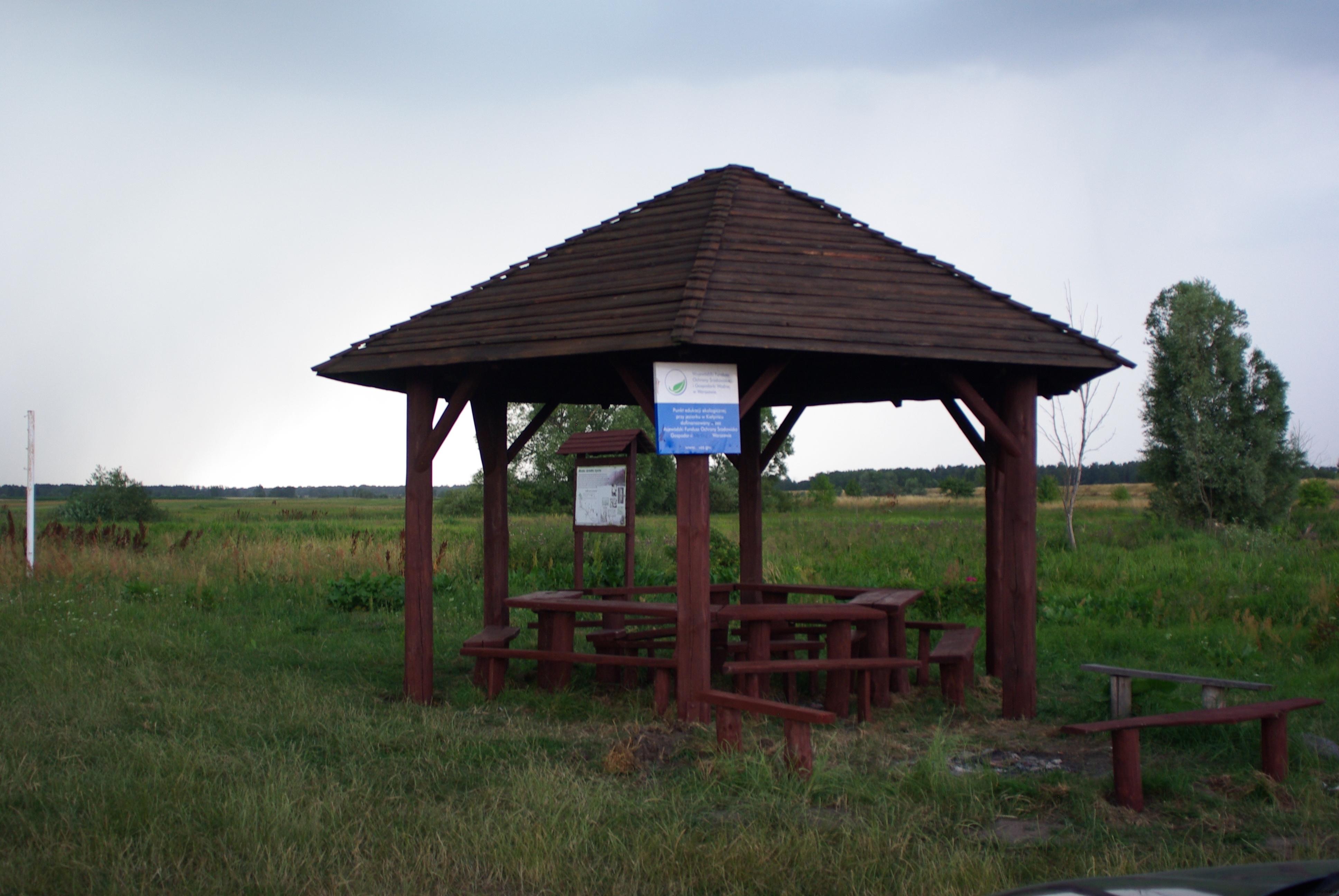 Punkt edukacyjny nad jeziorem Kiełpiniec 2015