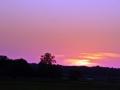 zachód słońca kiełpiniec
