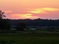zachód słońca, kiełpiniec, wiosna