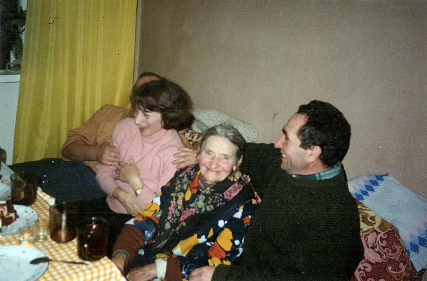 Zofia Kulesza z dziećmi