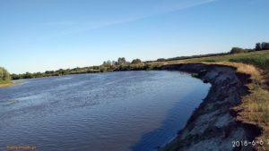 Rzeka Bug we wsi kiełpiniec w czerwcu