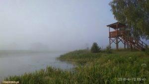 mgła.. poranek nad jeziorem w kiełpińcu czerwiec 2018 2